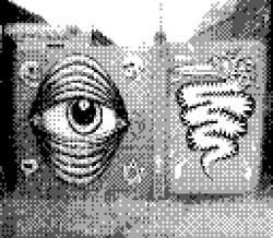 game boy camera - graffiti street art