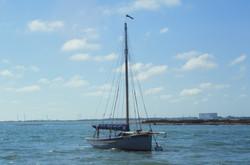 35mm slide West Mersea boat