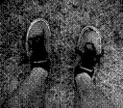 game boy camera - shoes
