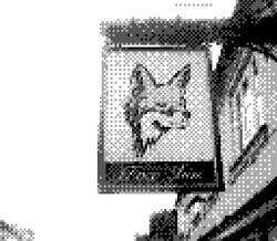 game boy camera - fox inn sign