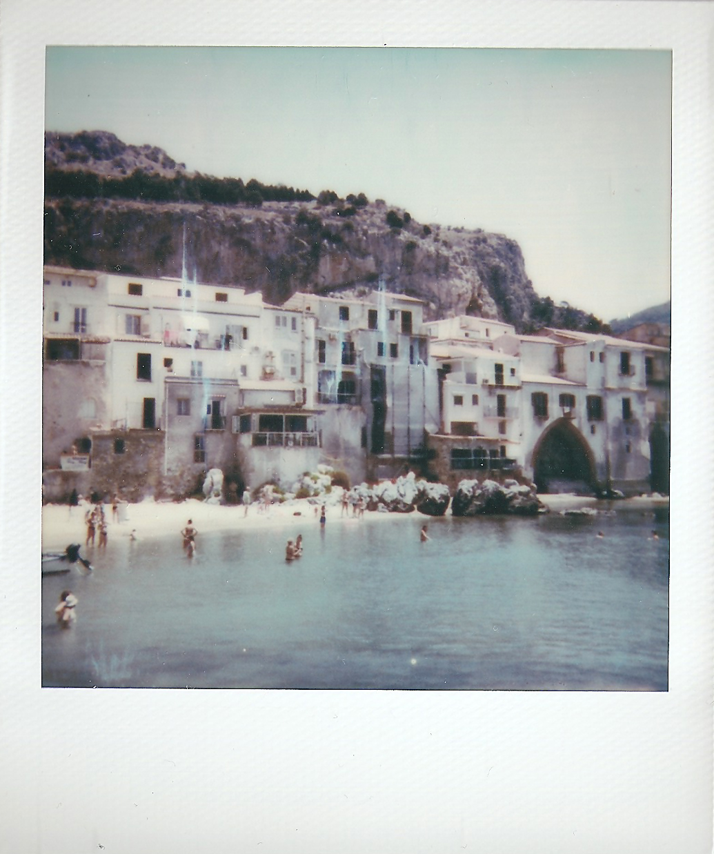 Polaroid 600 Cefalù Beach Siciliy