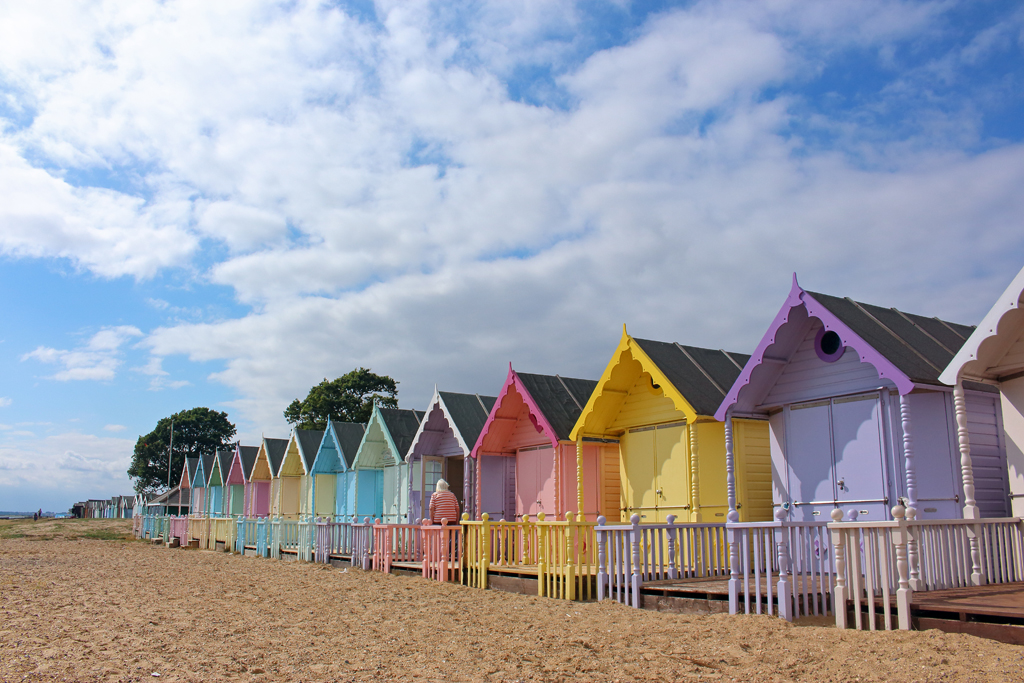 West Mersea Pastel Beachhuts
