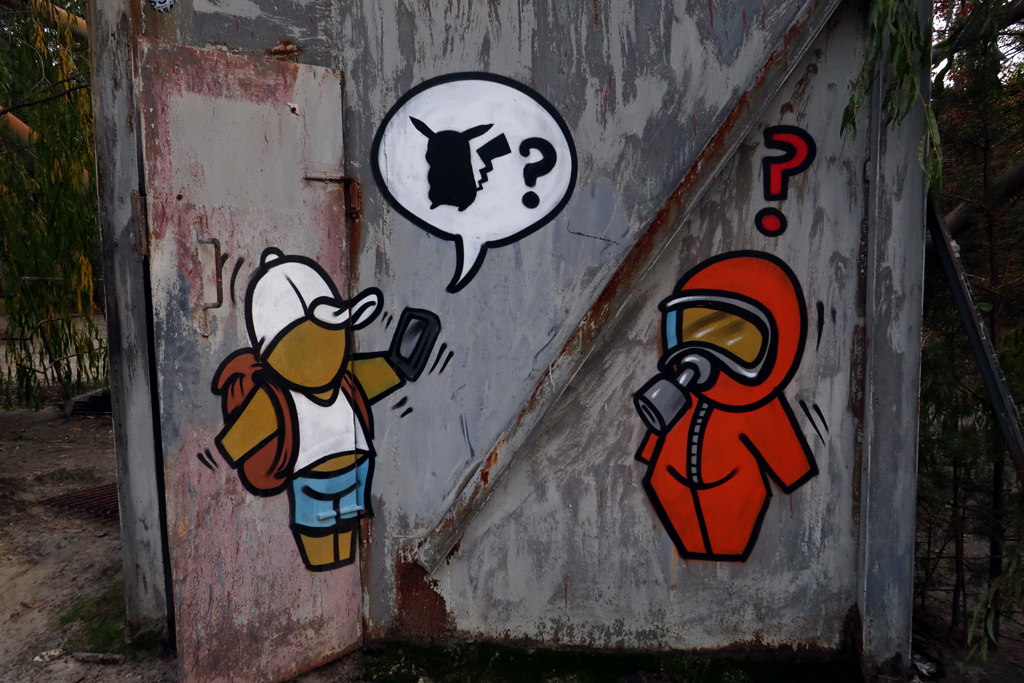 Exclusion Zone 135 - Pokemon Go Graffiti
