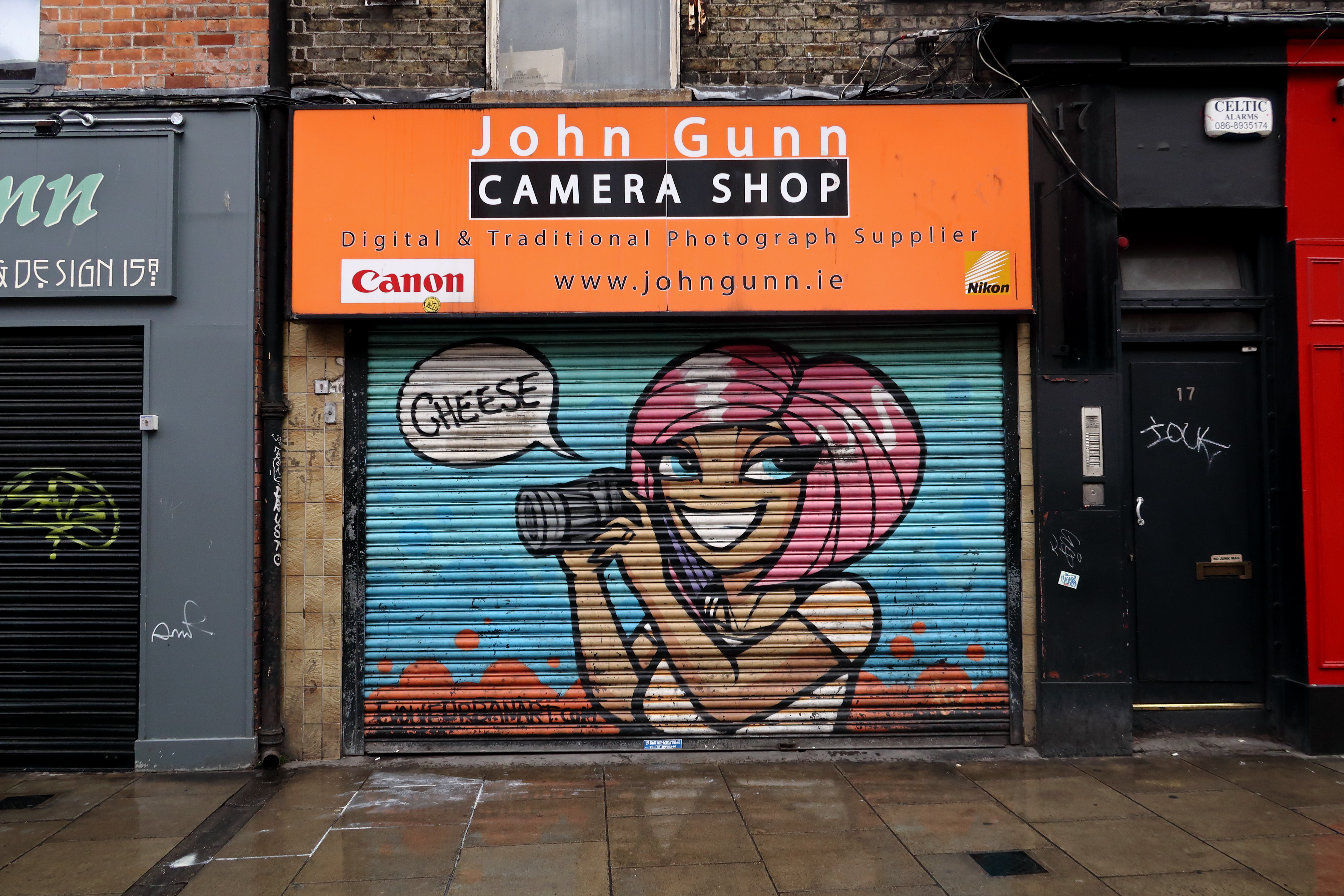42 Dublin Street Art - Girl on John Gunn