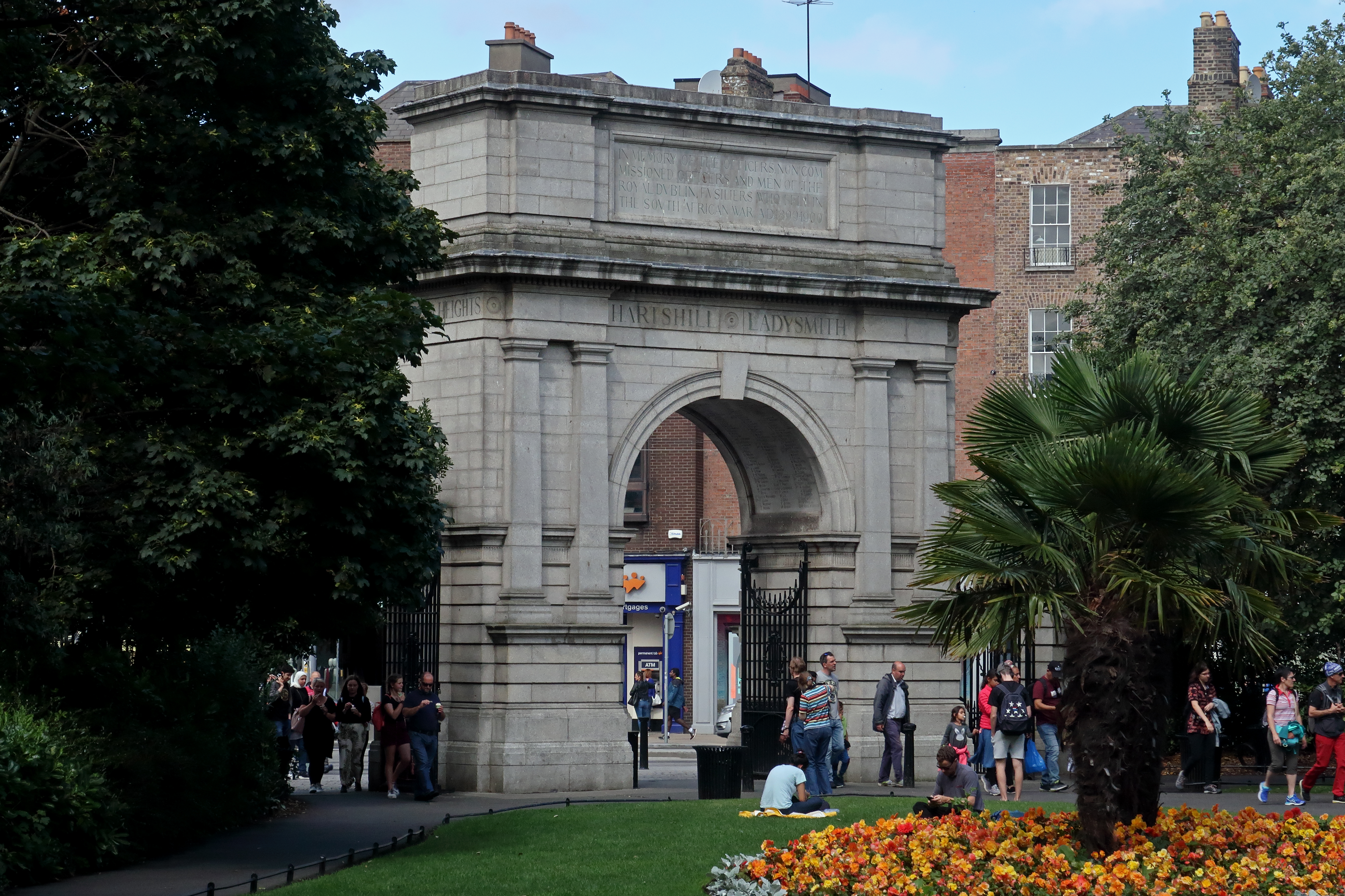 51 Fusiliers Arch from the park
