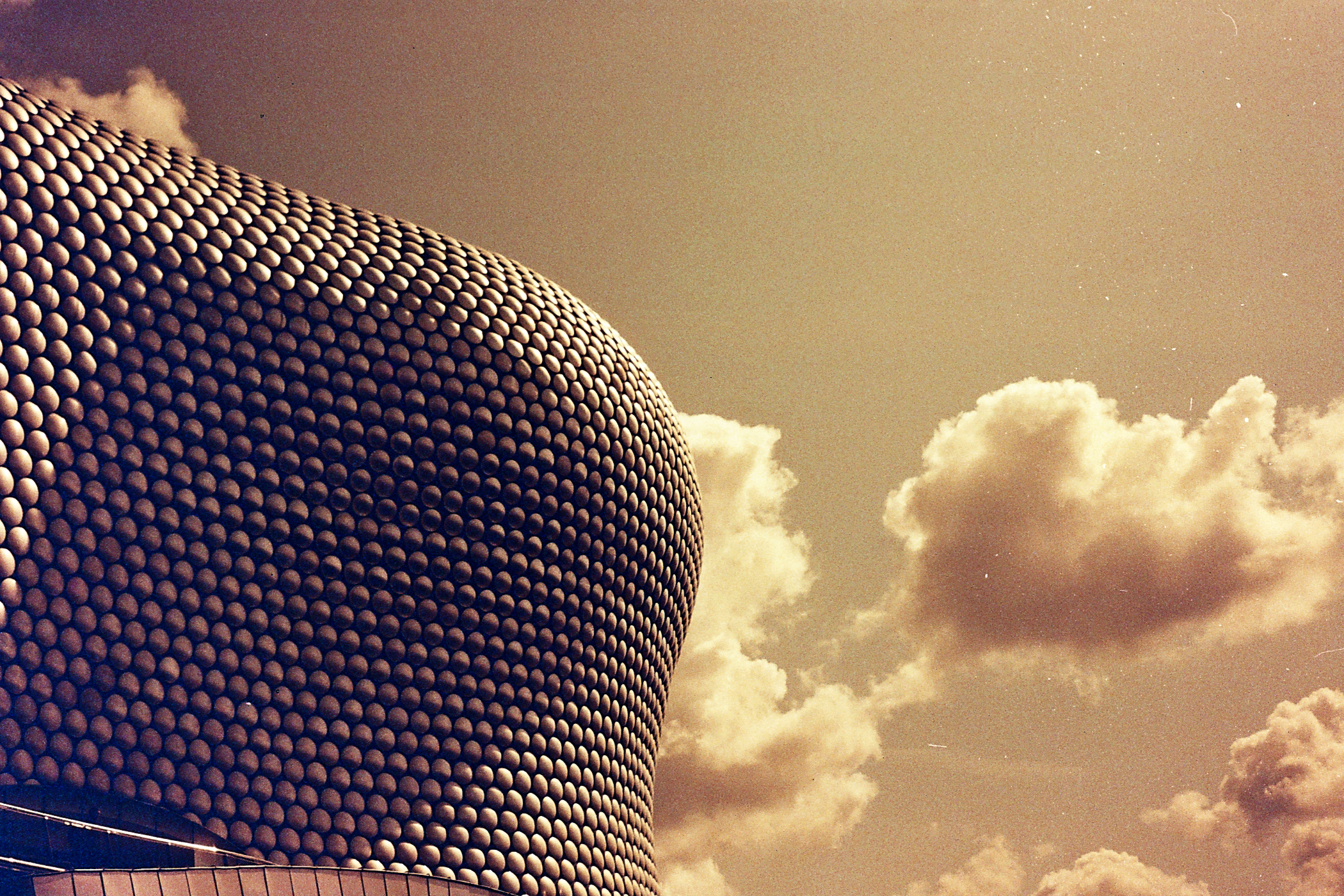 35mm Redscale Bull Ring Birmingham
