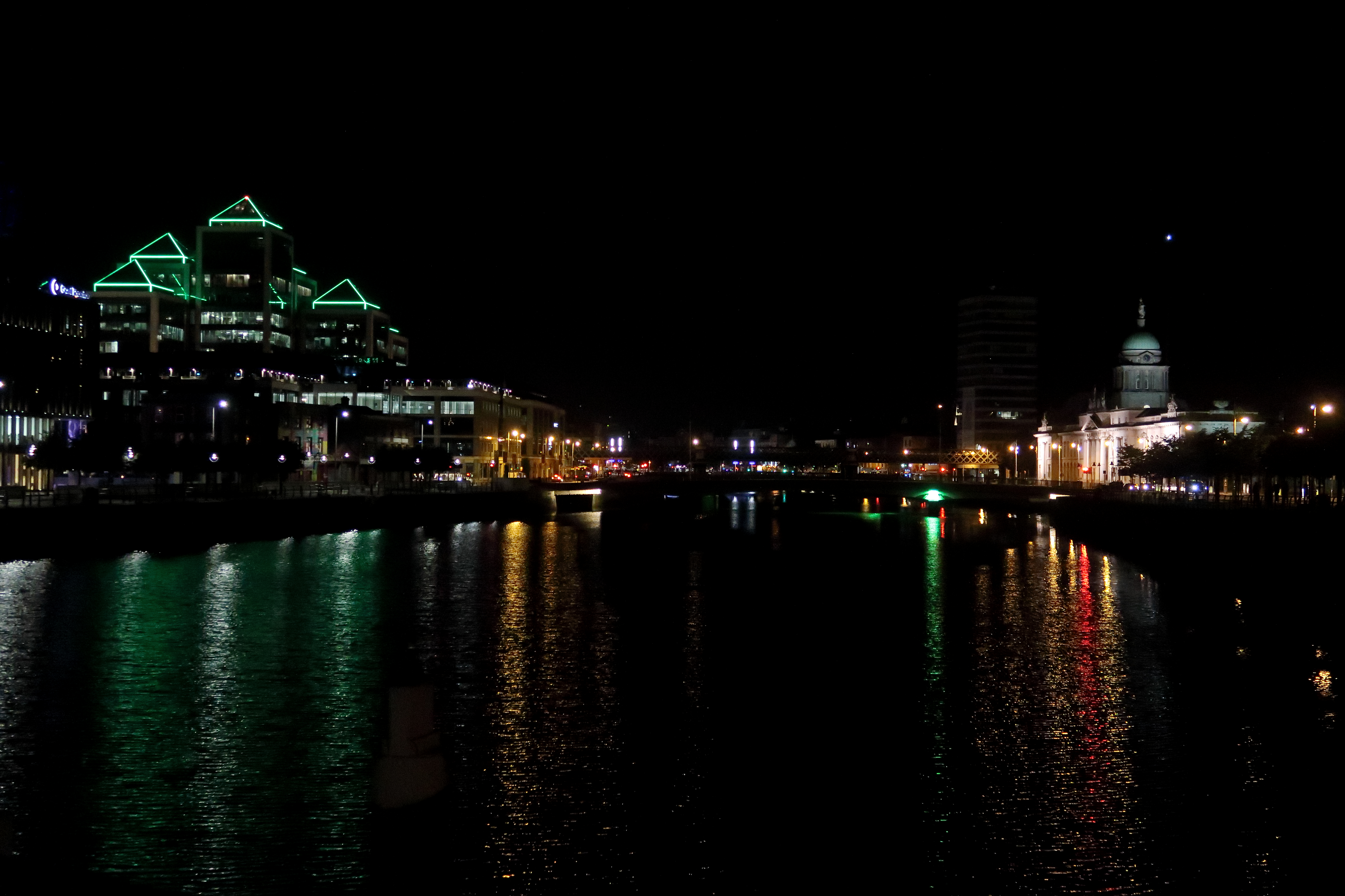 35 Down the River Liffey at night