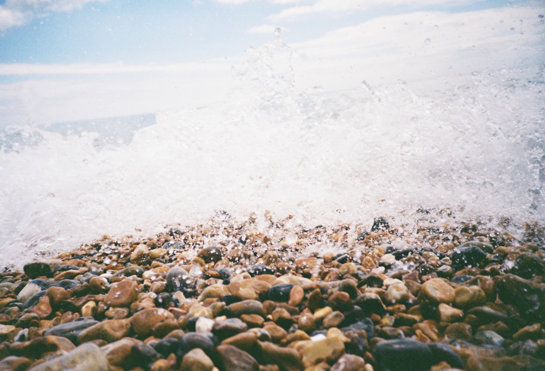 35mm Brighton Pebble Beach Waves