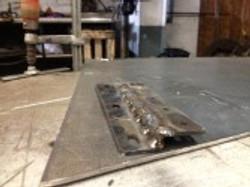 Fillet and weld A-pillar bracket