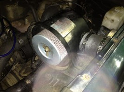 Airbox refitted to car and Snorkel