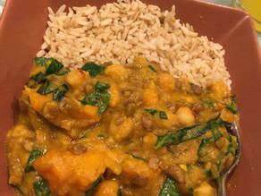 Lentil & Chickpea Sweet Potato curryYes