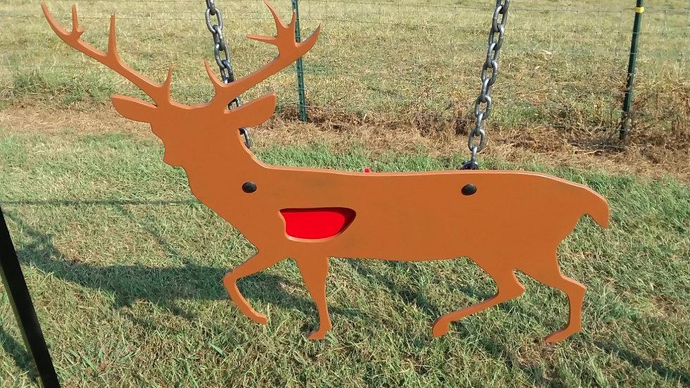 "3/8"" AR500 Frick Metals Large Vital Shot Deer Target"
