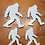 """Thumbnail: 3/8"""" thick steel bigfoot paperweight set of 4"""