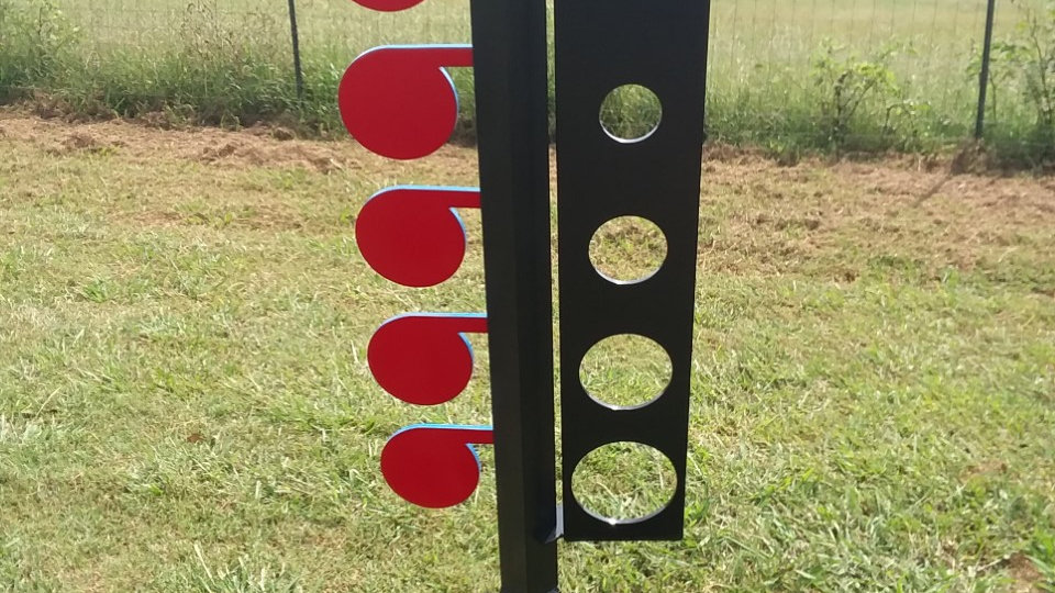 AR500 Dueling Tree Know Your Limits Plate Steel Target - PLATE ONLY