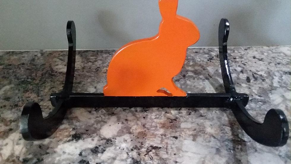 """1/4"""" steel rocking bunny rabbit reactive .22 target"""