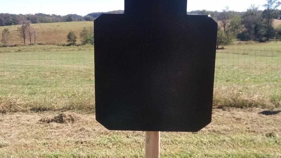 "3/8"" AR500 steel torso silhouette reactive target 12"" X 18"""