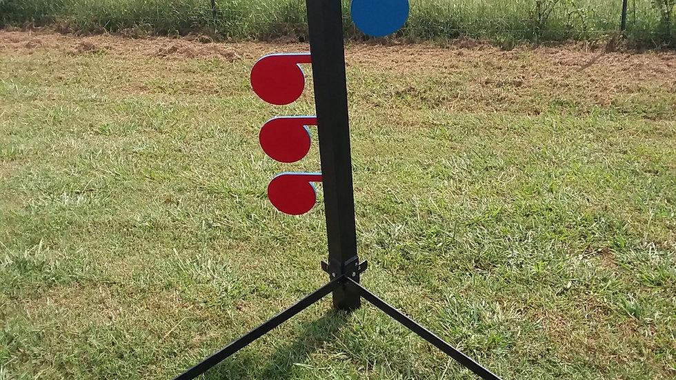 "1/4"" AR500 Rimfire Dueling Tree steel reactive target .22"