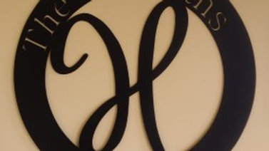 "22"" Metal Art Monogram"