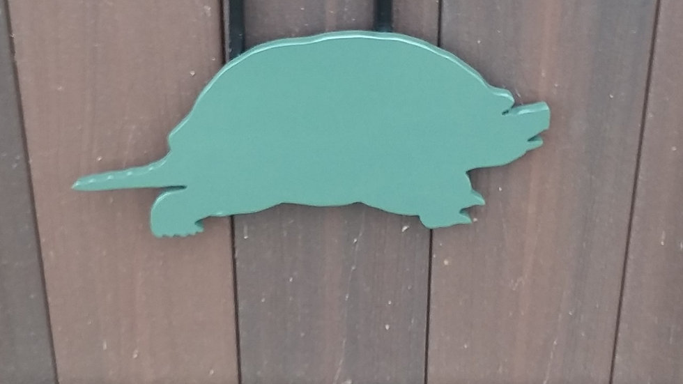 "3/8"" AR500 Steel Swinging Reactive Target Snapping Turtle"