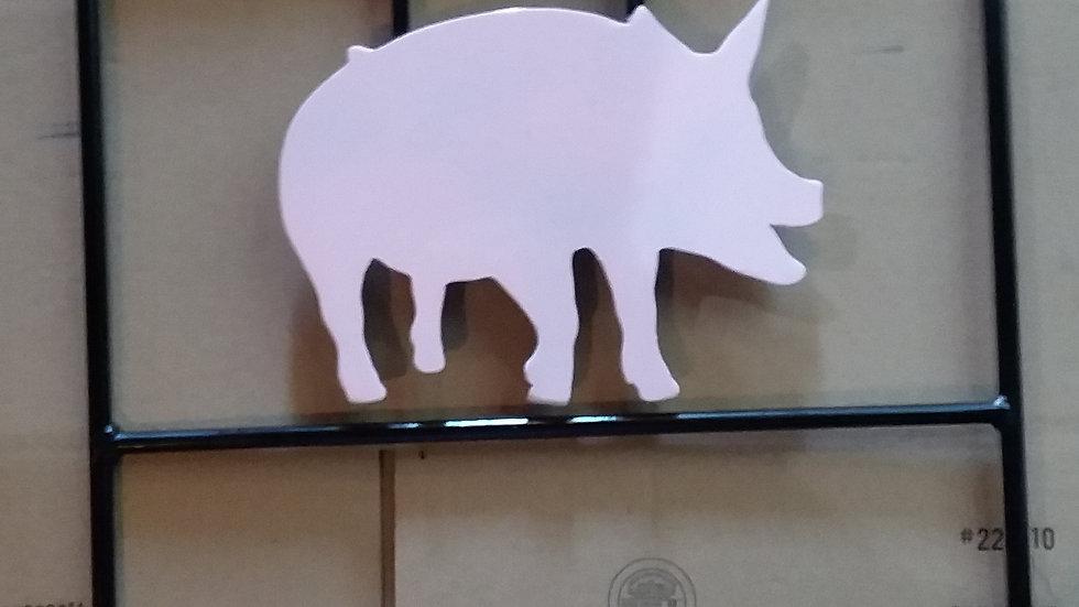 """3/8"""" AR500 Steel Reactive Swinging Pig Boar Hog Target"""