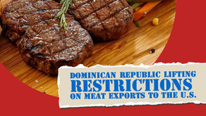 D.R LIFTS RESTRICTIONS ON MEAT EXPORTS TO THE U.S.