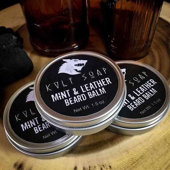 Mint & Leather Beard Balm