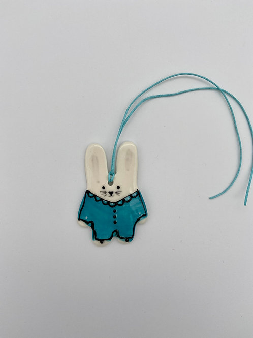 Baby Bunny Tag: turquoise