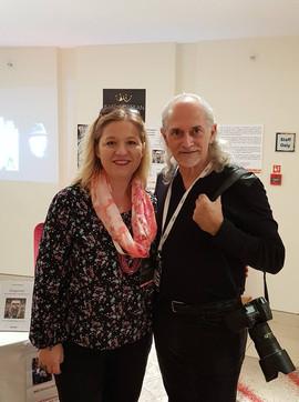 With Steven Whitsitt, London