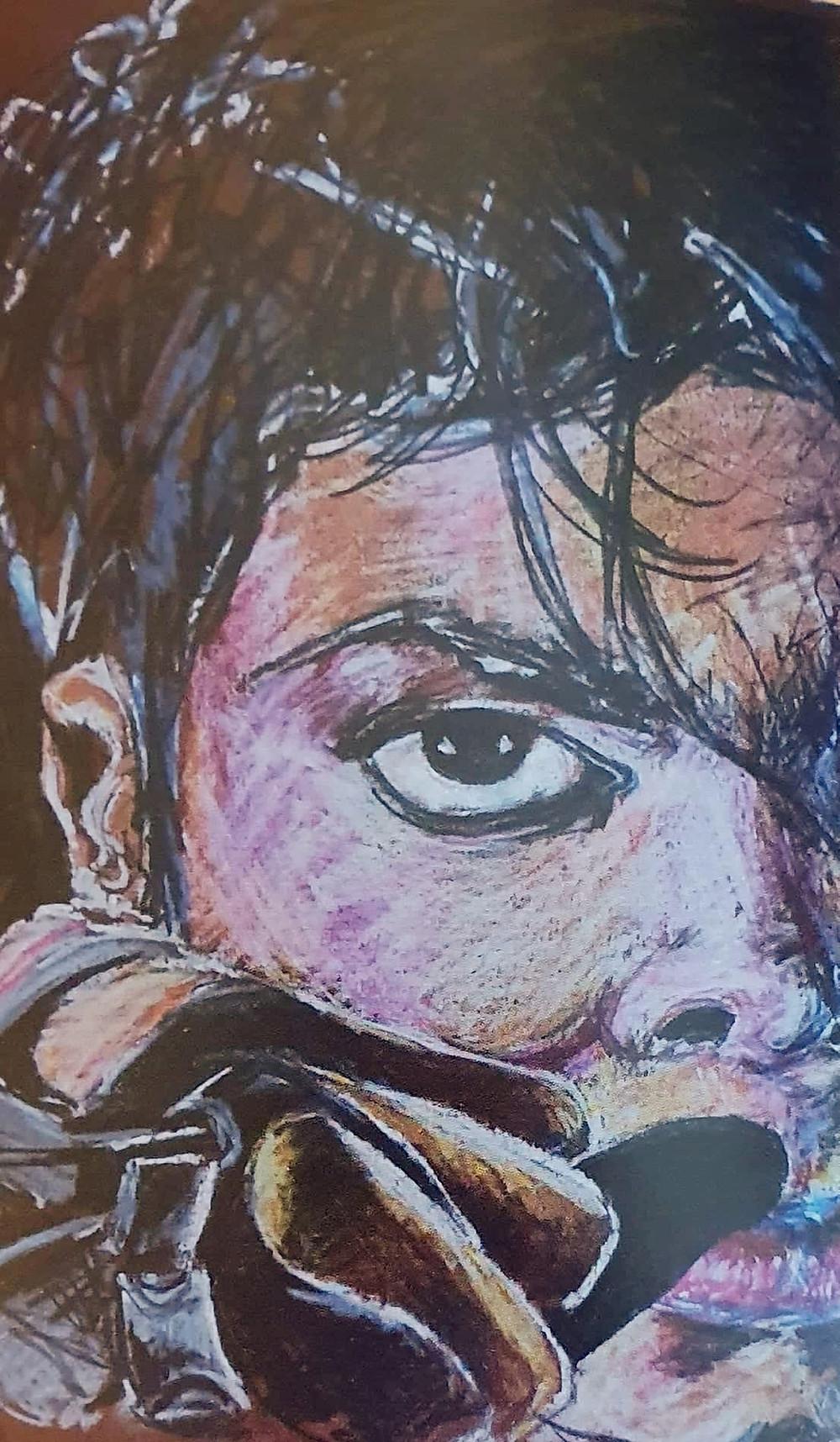 @ Renée Paul, artiste peintre, dessin aux crayson de couleurs Brunzeel sur papier cartonné couleur de la terre, 21,5 x 28 cm, 2010, collection personnelle