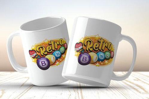 Retro Bingo logo mug