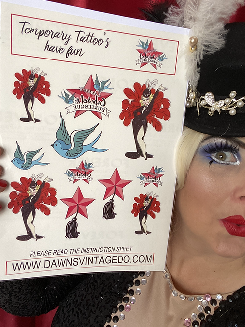 Dawn's Cabaret & Burlesque Tattoo Set