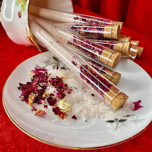 Individual bath salts - Rose & Himalayan