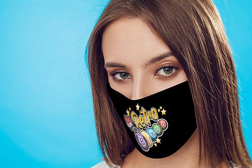 Retro Bingo face mask