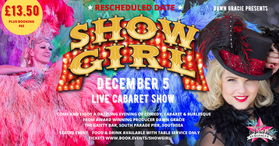 RESCHEDULED  EVENT  GRAPHIC SHOWGIRLS  G