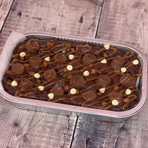 Rolo Brownie with Nutella & Fudge pieces