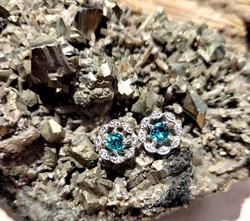 Emerald earrings.