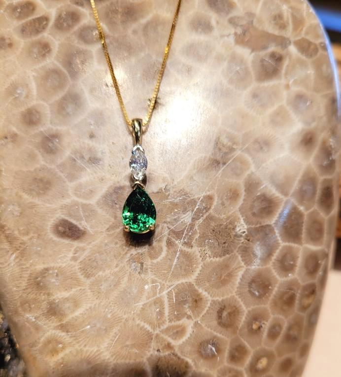 Garnet necklace.