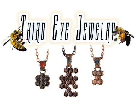 Metaphysical Jewelry Made From Real Honeycomb Slides!