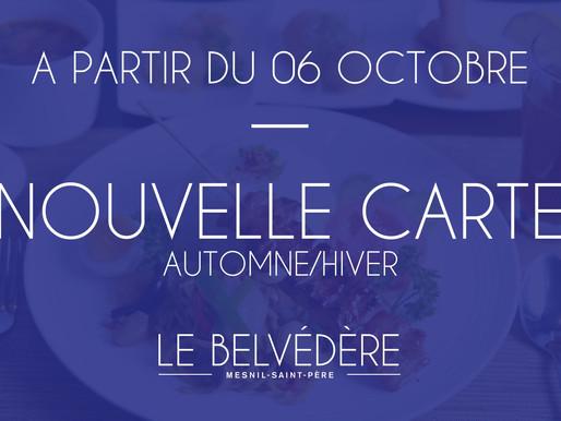 🍴 Nouvelle Carte à partir du 06 octobre