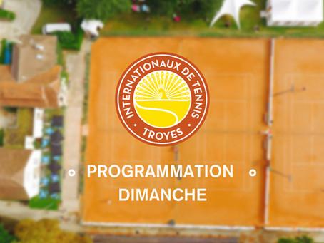 Programme de Dimanche 29 Juillet 2018