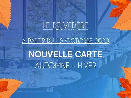 😍  NOUVELLE CARTE - AUTOMNE/HIVER