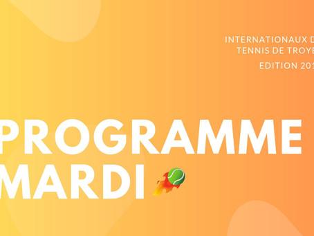 🎾 Programmation du Mardi 23 Juillet 2019