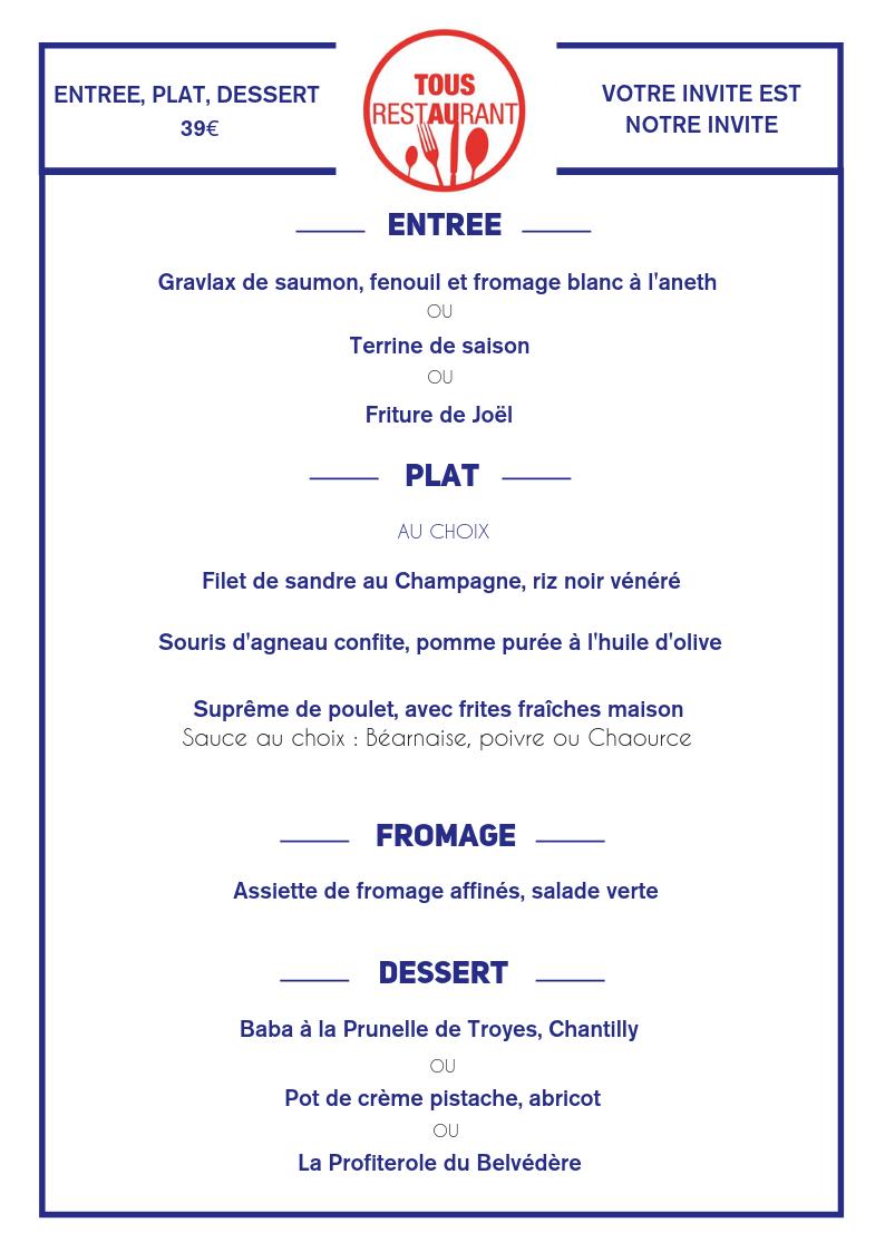Le Belvédère - Tous au restaurant