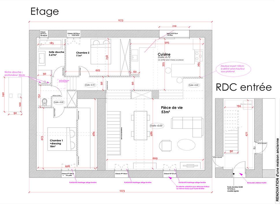 plan de l'étage maison rénovation à Lierguesjuin 2018.jpg