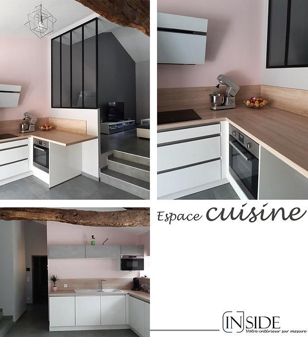 rénovation maison espace cuisine à Liergues