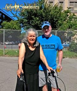 Mrs. Estrada with Tom Kelly