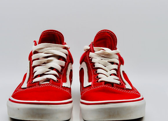 Off The Wall Vans Womens Red low Top