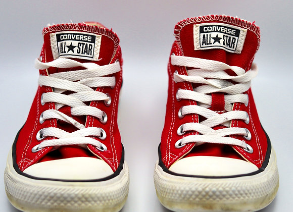 Ladies Red All Star Converse