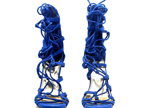 Blue Shin Heels