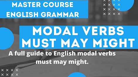Modal Verb Must May Might